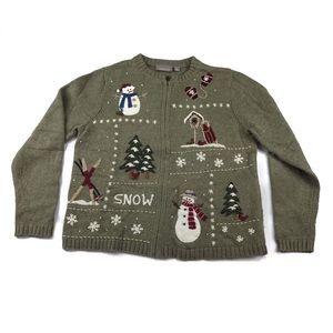 Croft & Barrow Ugly Christmas Cardigan Sweater